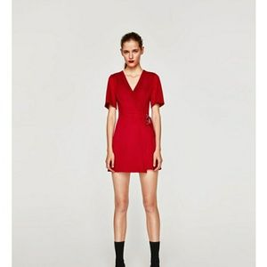 Large faux suede dress zara